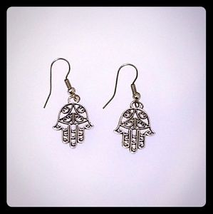 Hand charm earrings